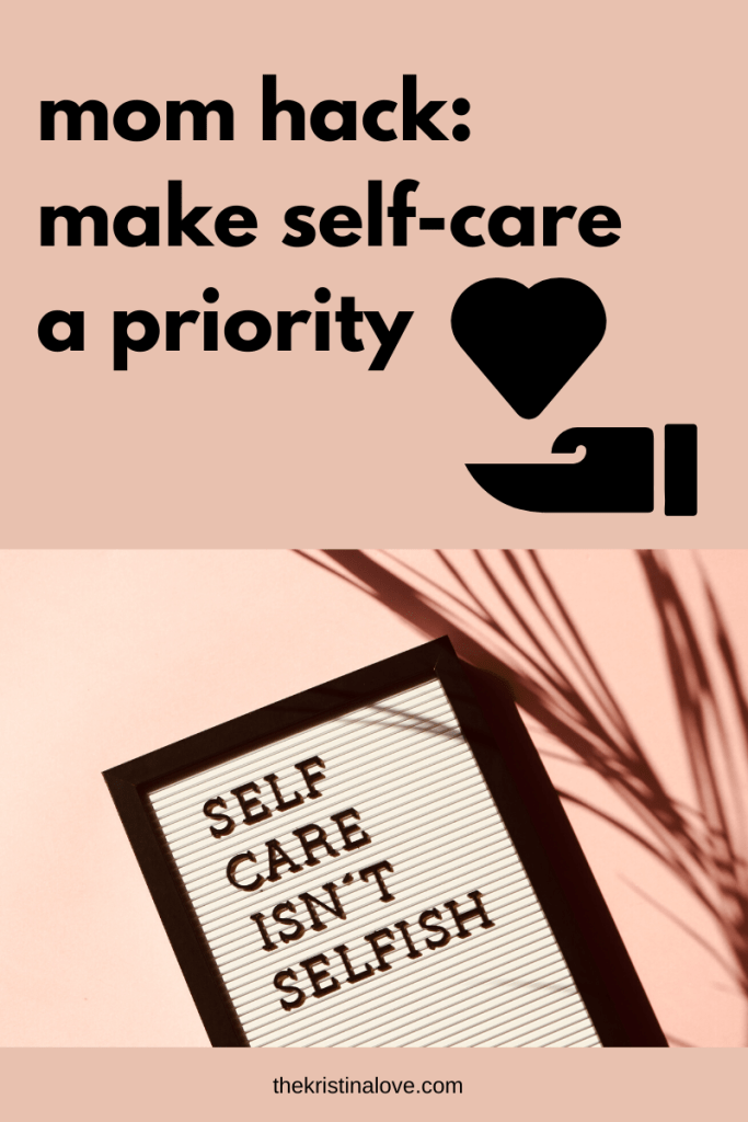Self-care helped me to cope with postpartum anxiety.
