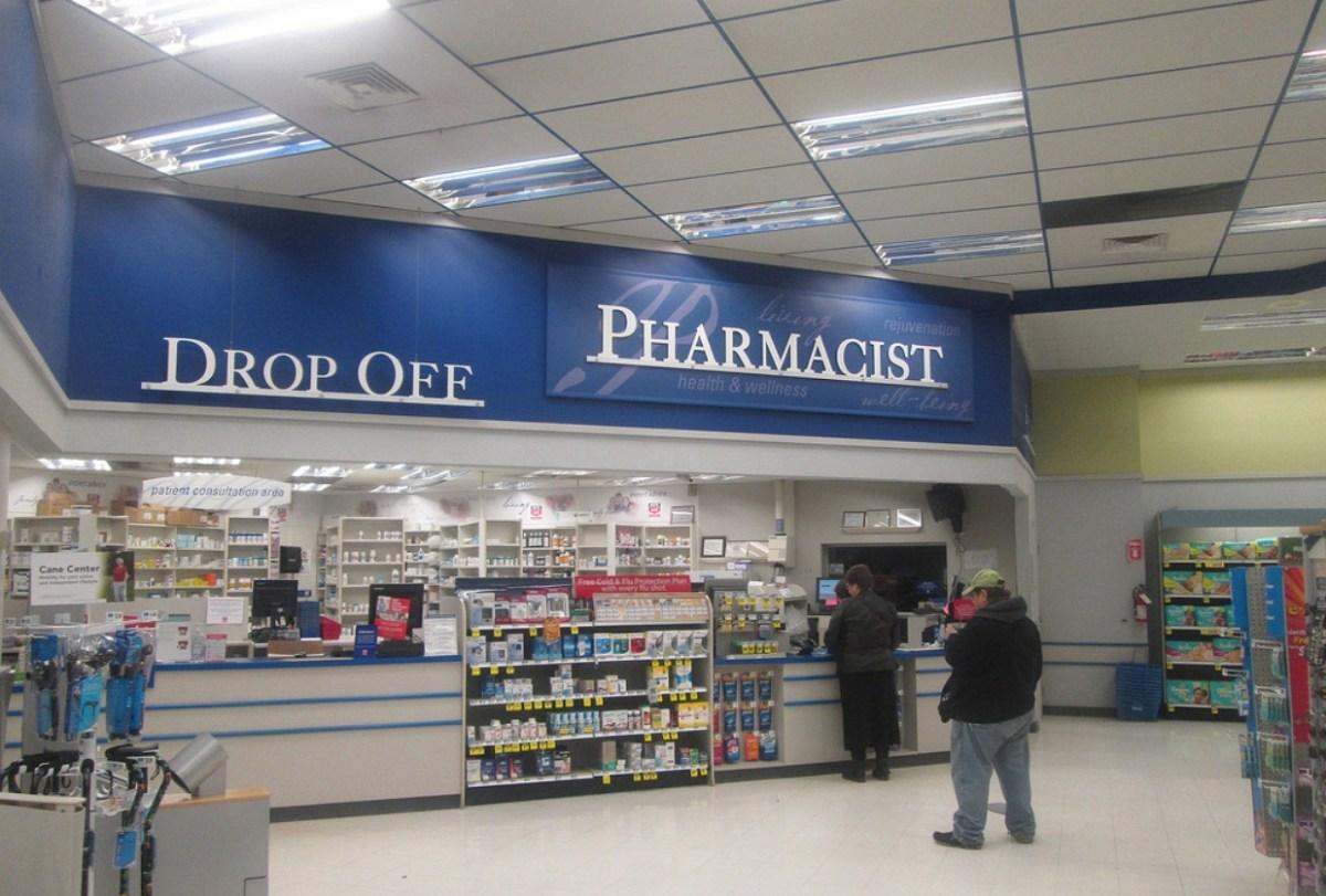 Inside of rite aid pharmacy store