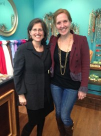 Helen Rosenthal, who is running for City Council, stopped by to support a local business and pick up a few pairs of earrings. She has KTcollection's vote!