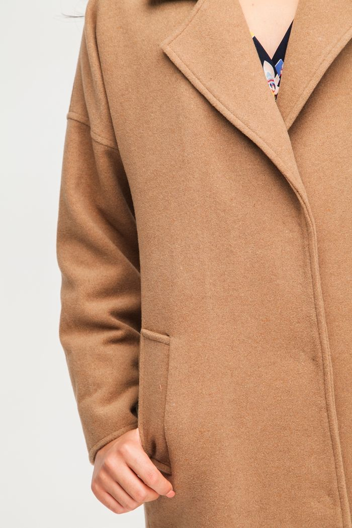 Пальто шерстяное camel - THE LACE