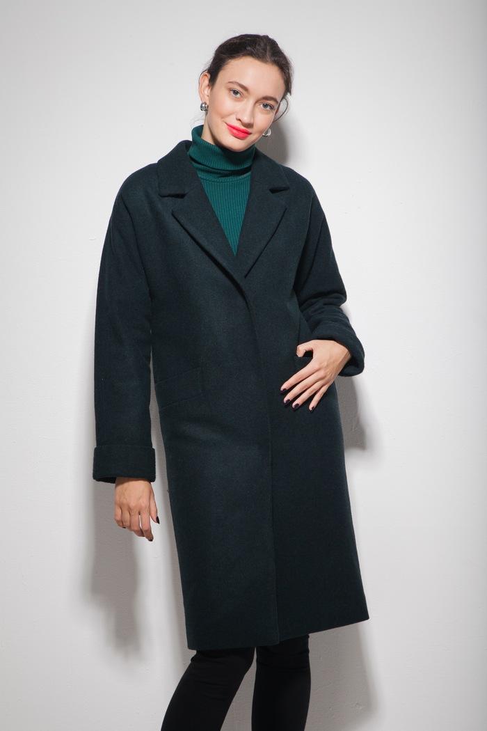 Пальто oversize изумрудное - THE LACE