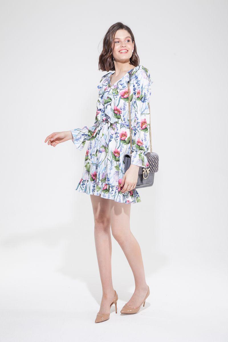 Платье мини с воланами Floral mood — THE LACE