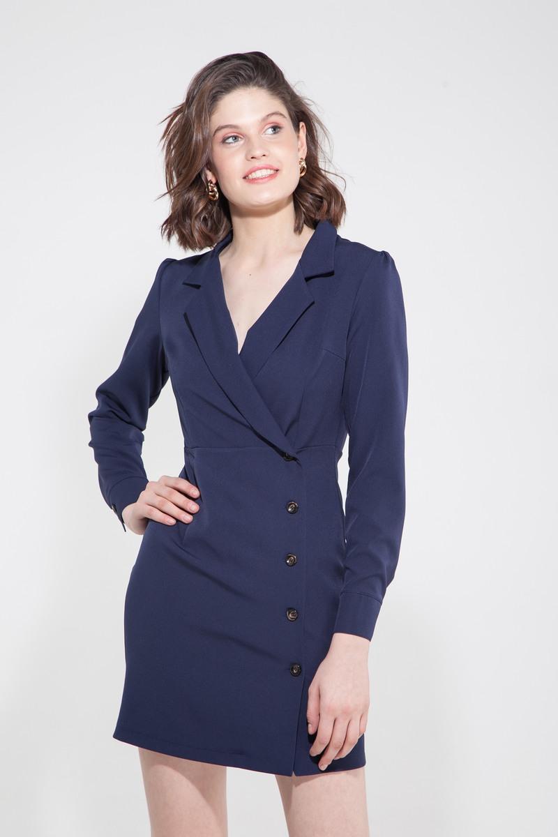 Платье-жакет синее - THE LACE