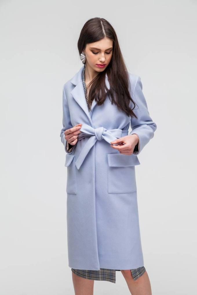 Пальто classic с накладными карманами лавандовое - THE LACE