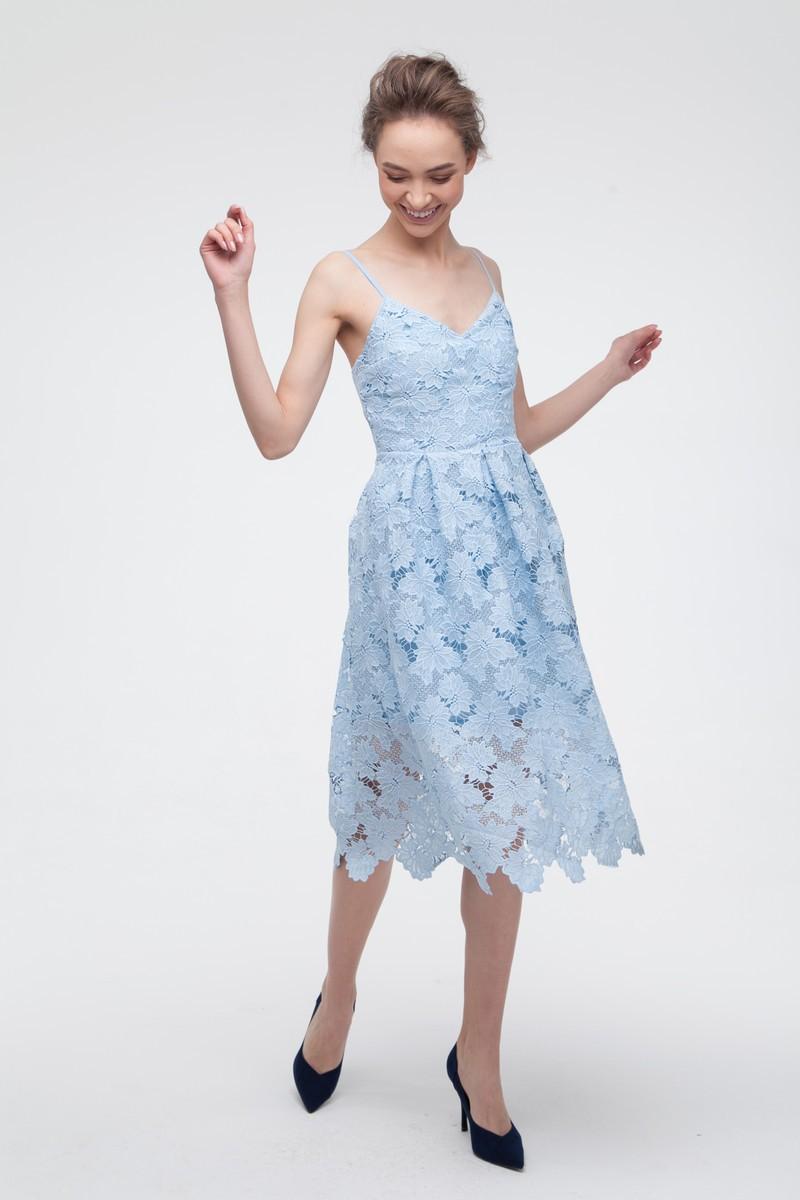 Платье кружевное голубое — THE LACE