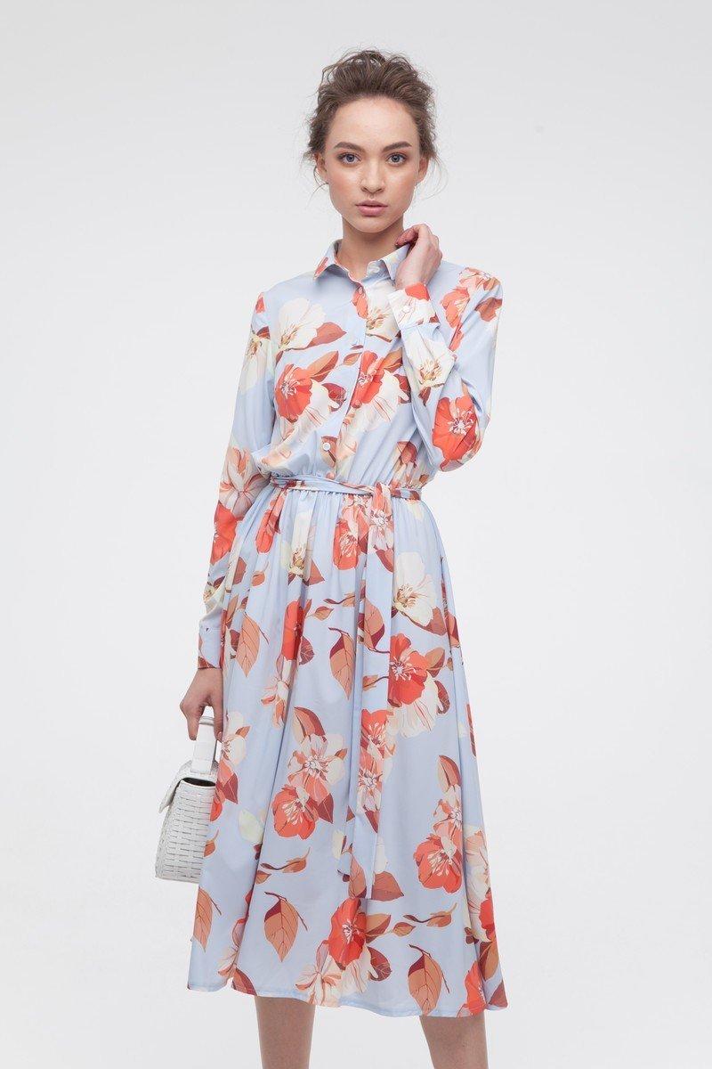Платье миди с пышной юбкой Fancy Flowers - THE LACE