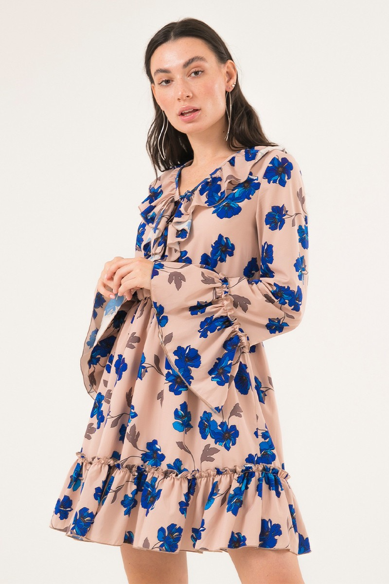 Платье мини с воланами Pretty flowers - THE LACE