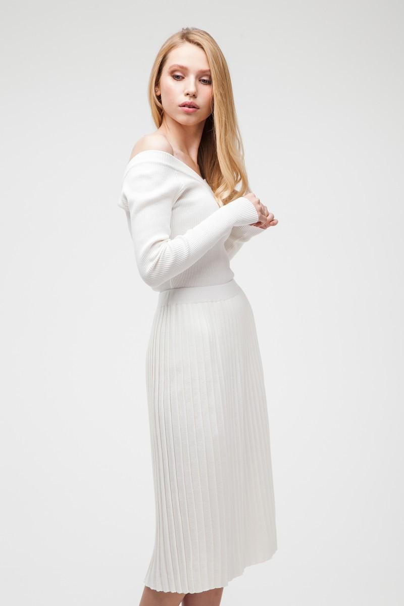 Трикотажный костюм белый - THE LACE
