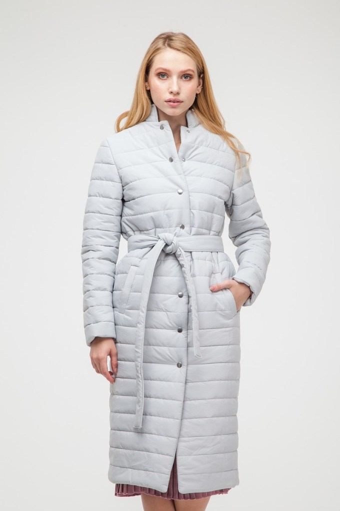 Пальто стеганое жемчужное - THE LACE