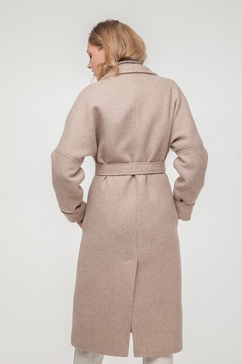 Пальто-халат шерстяное утепленное Beige - THE LACE