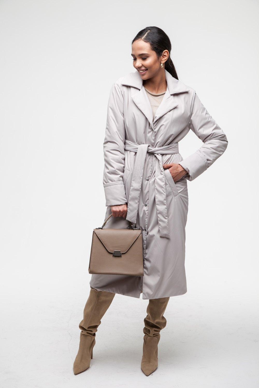 Пальто утепленное серое - THE LACE