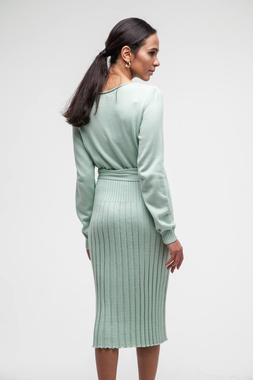 Платье трикотажное фисташковое - THE LACE