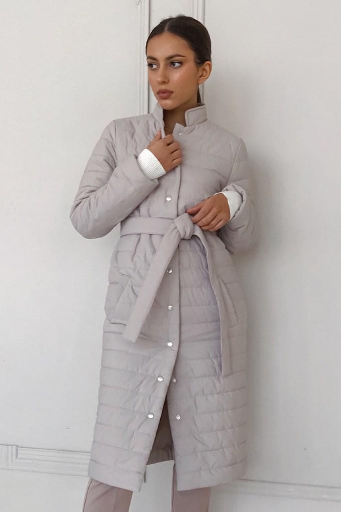 Пальто стеганое бежевое - THE LACE