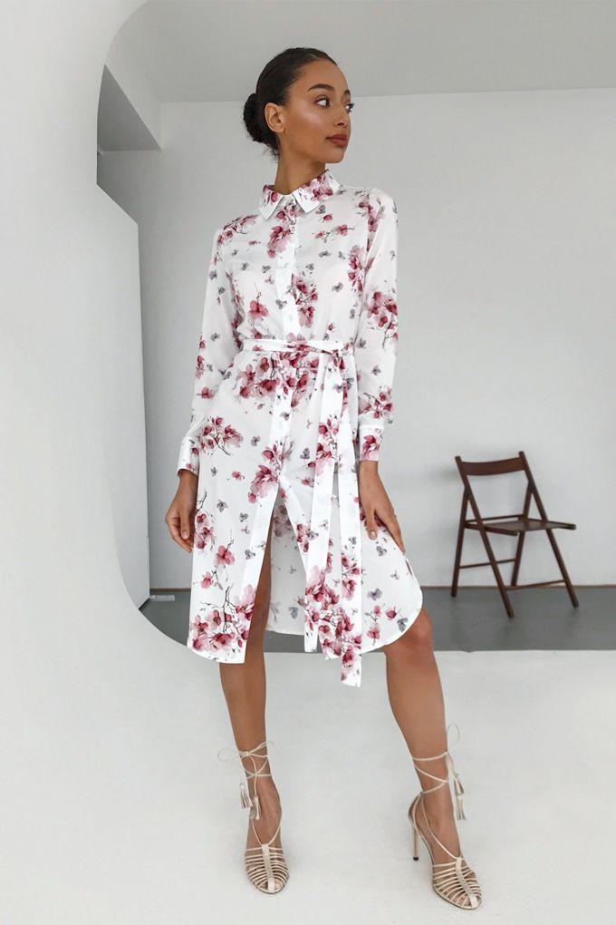 Платье-рубашка Magic bloom - THE LACE