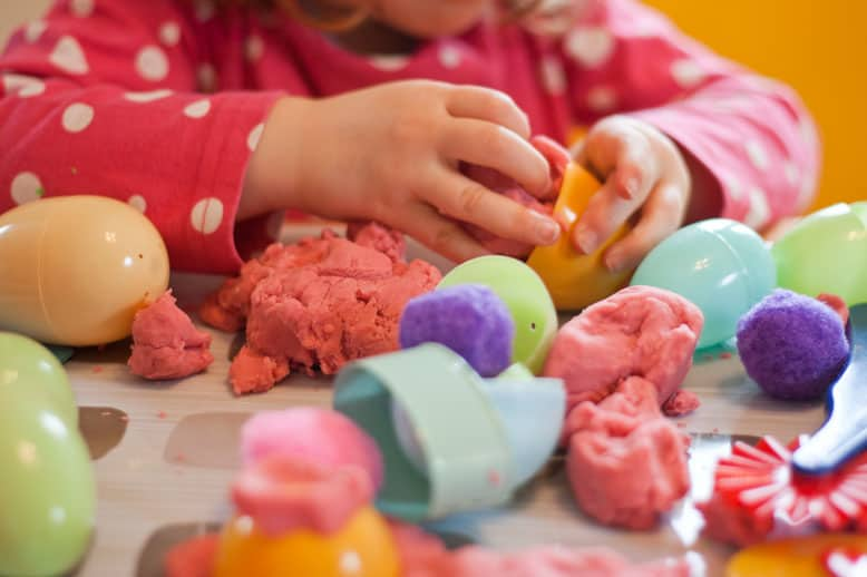 Easter play dough