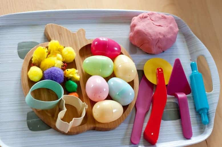 Easter play dough invitation to create