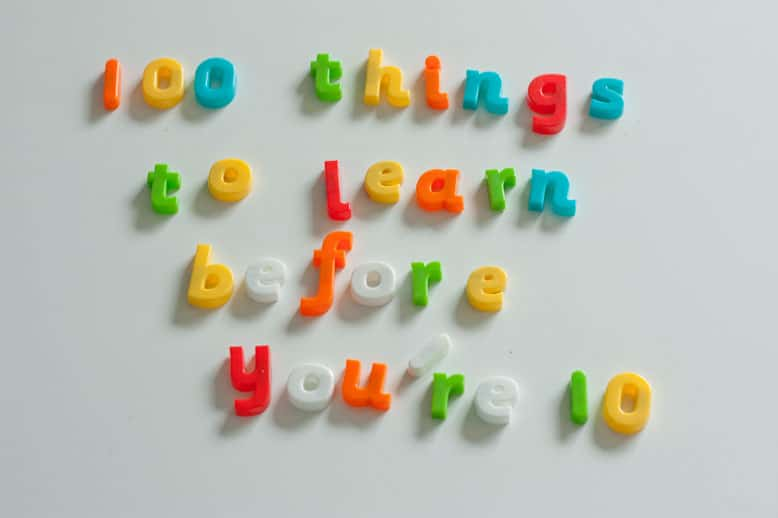 100 things to learn before you're 10 book review