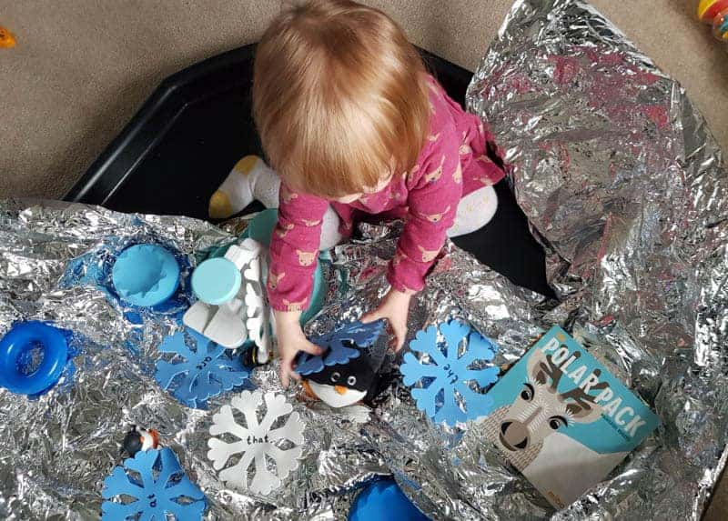 Winter sensory play for toddlers