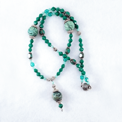 Turquoise Worlds necklace