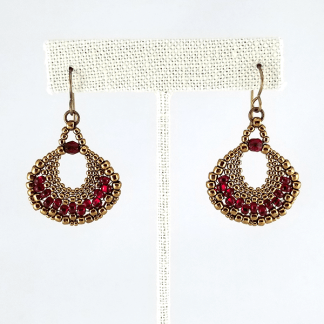 Cleo's Fan earrings