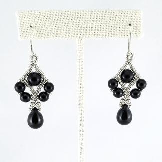 Licorice Drops earrings