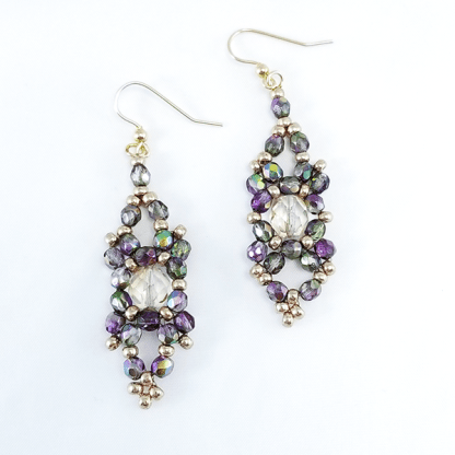 Orchid Cascade earrings