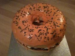 Orange giant donut
