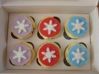 Colourful snowflakes