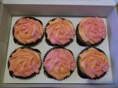 Two toned rose cupcakes