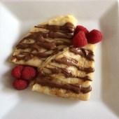 Nutella and fresh raspberries