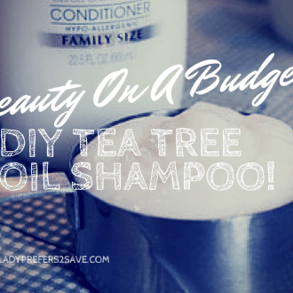 DIY Tea Tree Oil Shampoo!