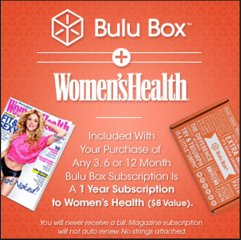 July 2014 Bulu Box Spoilers: FREE Subscription to Women's Health Magazine & $5 Off Coupon Code!
