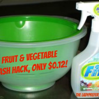 Cleaning Solutions: Fit Fruit & Vegetable Wash Hack!