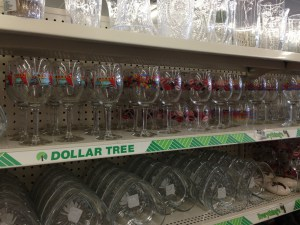 Gift Closet Ideas: Dollar Tree Party Glasses!