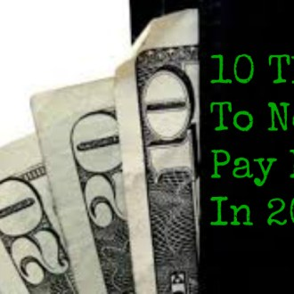 10 Things To Not Pay For In 2015!