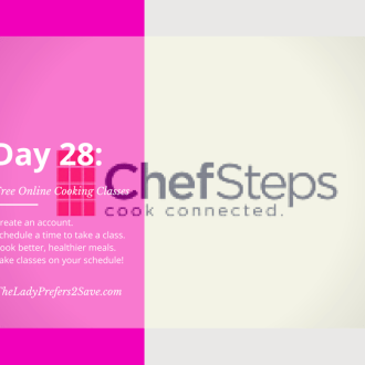 February No Spend Month Challenge: Day 28 (Take A Free Cooking Class Online)