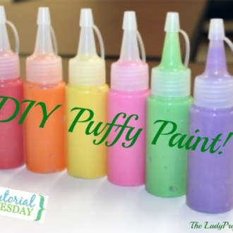 Tutorial Tuesday: $0.15 DIY Puffy Paint!