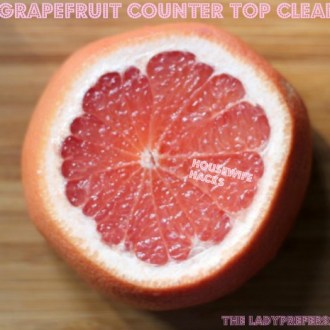DIY Grapefruit Counter Top Cleaner!