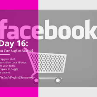 June No-Spend Month Challenge: Day 16 ( Selling on Facebook Local Groups)