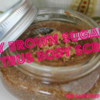 DIY Brown Sugar Citrus Body Scrub!