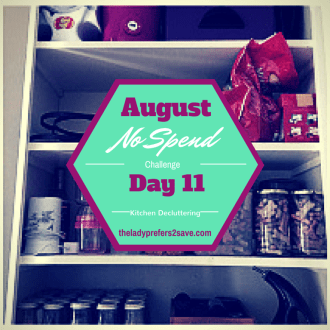 August No-Spend Month Challenge Day 11: Clean Off Your Counter-tops!