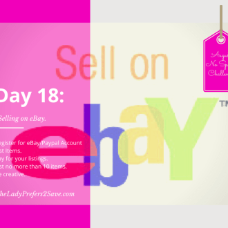 No Spend Month Challenge Day 18: How to Sell on eBay!