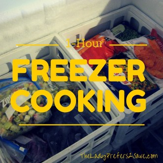 October No-Spend Month Day 6: 1-Hour Freezer Cooking Meals!