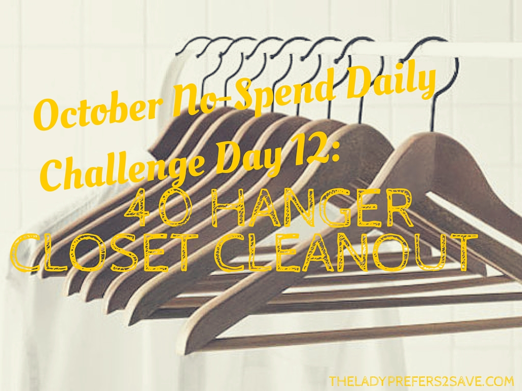 October No Spend Daily Challenge Day 12