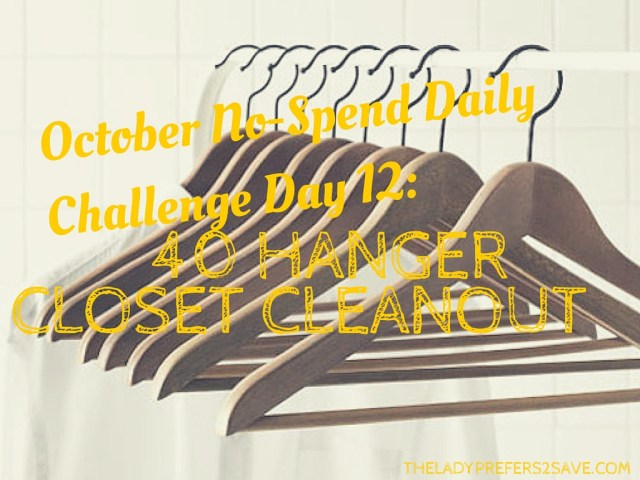 October No-Spend Daily Challenge Day 12-