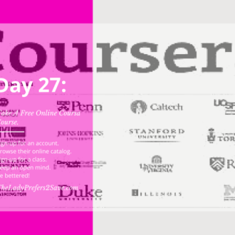 October No-Spend Month Challenge Day 27: Free Online College Courses