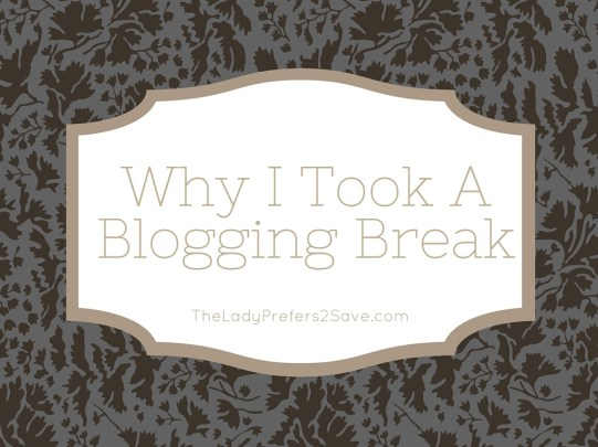 Why I took a break from blogging
