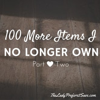 100 More Items I no longer own as a Minimlaist