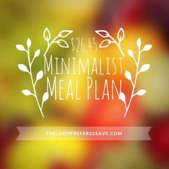 $26.45 Minimalist Meal Plan