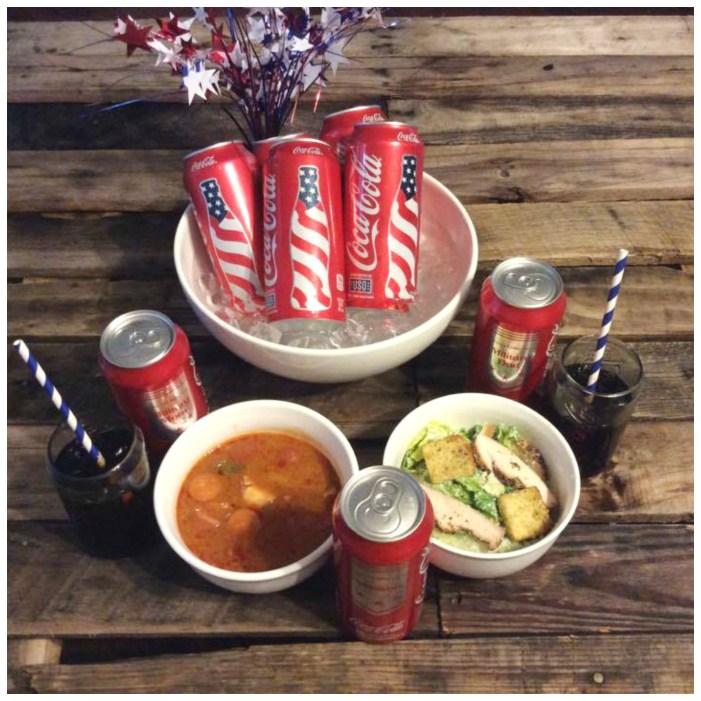 DIY Patriotic Coke Cans